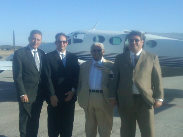 Left to right. Eng. Rassem Mansour, Senator Nick Gautreaux, Sheikh Khalid Al-Qassimi and George M. Sfeir.