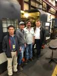 Evaluation of CHEVALIER CNC FLC 120C. Left: Frank Wang, Hassan Abdul Kader, Octavio Morales